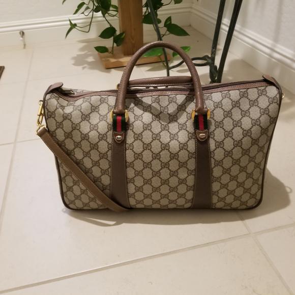 8177b4a431bf Gucci Bags | Vintage Webbed Gg 3 Ways Large Duffle | Poshmark